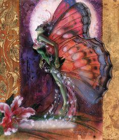 Magic, the Gathering Art: Moonsprite Artwork by TereseNielsen (original designer for this card art)
