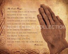 beautiful lords prayer pictures | ... Art, Christian Art : THE LORDS PRAYER hand version 8x10 Fine Art Print