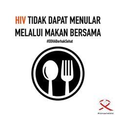 HIV tidak menular melalui makan bersama