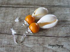 """Ohrhänger - Ohrstecker """"kauri shell """"  - ein Designerstück von things2enjoy bei DaWanda"""