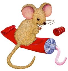 MOUSE AND TOOTHPASTE CLIP ART