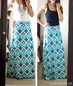 teal and navy maxi skirt from Stitch Fix .... I would be able to wear this to work or leisure. Love the colors.