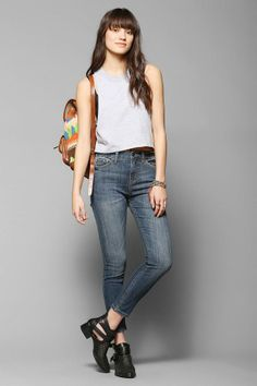 BDG Twig Grazer High-Rise Jean - Otto #urbanoutfitters Floral Boots, High Rise Jeans, Fashion Outfits, Womens Fashion, Super Skinny, Winter, Urban Outfitters, Mom Jeans, Fitness Models