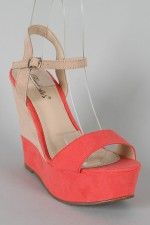 Melon colored wedge heels  LOVE <3