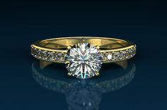 Diamond Ring - Beautiful Round cut 2.52 CT F SI2 in FREE 18KT Solid Yellow Gold    Our New Collection - Great Sales - 50%-70% OFF the Retail Price...    This Beautiful Round cut 2.52 CT F SI2 in 18KT Solid Yellow Gold sales for only - $9,394.00