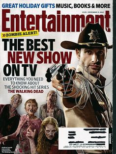 Walking Dead Andrew Lincoln Autograph Hand Signed Entertainment Weekly Magazine