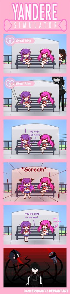 Yandere Comic - Slender mode in action by DancerQuartz on DeviantArt