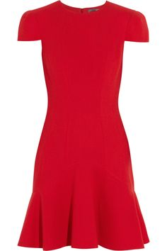 Alexander McQueen | Wool-crepe dress  | NET-A-PORTER.COM