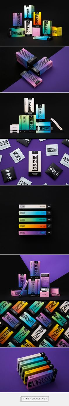 Indigo condoms packaging design by Fabula Branding - http://www.packagingoftheworld.com/2017/04/indigo.html