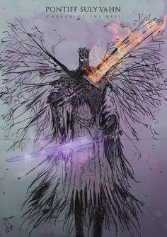 Dark Souls III, Pontiff Sulyvahn by LandRoach