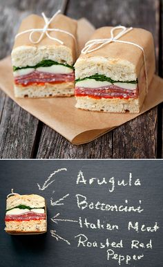 Pressed Italian Sandwiches - Reminds me of Faye's sandwiches in Le Marche