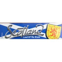 Scotland Scottish Flag Car Bumper Sticker