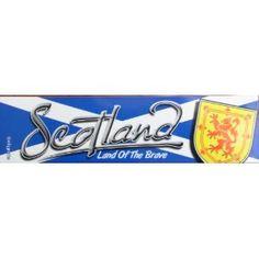 Scotland Scottish Flag Car Bumper Sticker