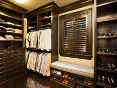 The experts at HGTV.com share simple shoe organizer ideas for easy storage in your walk-in closet.
