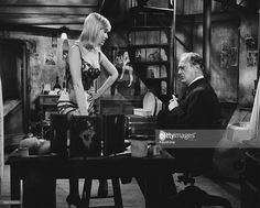 Actors May Britt and Curd Jurgens in a boudoir scene from the movie 'The Blue…