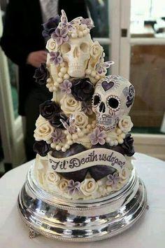 "Elegant ""Day of the Dead"" cake."