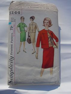 vintage Simplicity 5144 Size 14 Bust 34 Suit and by julianne, $8.00