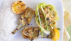 Vegan Grilled Artichoke and Quinoa Lettuce Wraps   28 Clean Eating Recipes To Grill This Summer
