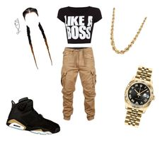 """""""like a boss """" by bubblezortiz on Polyvore featuring G-Star Raw, WearAll and Rolex"""