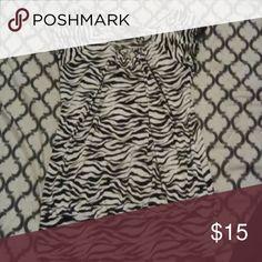 Julie's Closet Zebra Print Too Size Large Zebra Print Maternity Top. Light Material Julie's Closet Tops Blouses