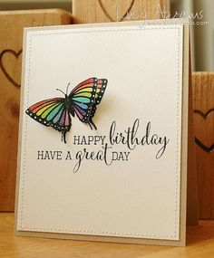 Today it's reveal day at Clearly Besotted Stamps . Card Making Inspiration, Making Ideas, Card Tags, I Card, Rainbow Card, Rainbow Butterfly, Butterfly Birthday, Butterfly Cards, Butterfly Kisses