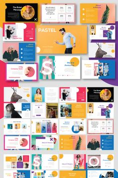 Pastel is a Modern Professional, minimal and unique design, where each slide create with love and attention to detail. This is a multipurpose KEYNOTE Template Powerpoint Design Templates, Booklet Design, Keynote Template, Indesign Presentation, Presentation Layout, Portfolio Design Layouts, Web Design, Slide Design, Mise En Page Magazine
