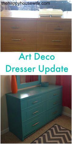 art deco dresser update