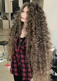 Woman With Real-Life Rapunzel Hair Long Curly Hair, Big Hair, Wavy Hair, Curly Hair Styles, Natural Hair Styles, Kinky Hair, Beautiful Long Hair, Gorgeous Hair, Permed Hairstyles