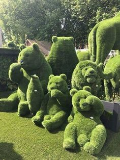 Now, that's some topiaries!