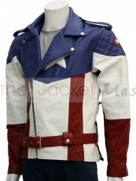Captain America : The First Avenger Leather Jacket Hot Version  I want this so very, very much.