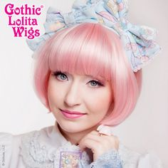 Gothic Lolita Wigs® <br> Summer Bob™ - Pink Blonde #gothiclolitawigs #GLW #IAMDOLLUXE #wig #coolhair #hairfashion #style #hairstyle #beautiful #pretty #outfit #muse #girls #beauty #stylish #love #glam #straighthair  #shorthair   #pastel #hairideas  #lolitafashion #beautifulwigs  #cute #kawaii
