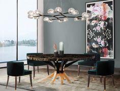 Dining Room Ideas. Dining Room Design. Dining Room Table. Dining Room Chairs. #diningroom #diningroomideas #diningchair #diningtable Discover more inspiration at: https://www.brabbu.com/en/inspiration-and-ideas/interior-design/dining-room-furniture-dreams-are-made-of