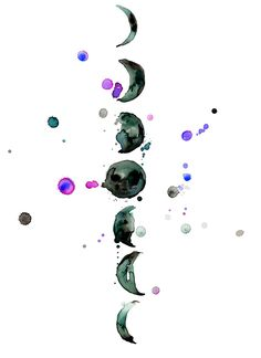 watercolor moon phases - Google Search
