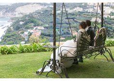 Porch swing, landscape and green garden #NelloDiCesarePhotography #porchswing #location #wedding #WeddingPlanner #photography #landscape #garden