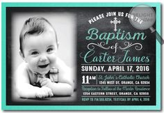 Vintage Chalkboard Boy Baptism Invitations [DI-840] : Custom Invitations and Announcements for all Occasions, by Delight Invite