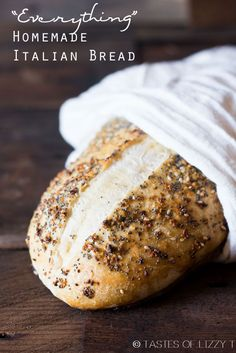 """Classic, homemade Italian bread dressed up with an """"everything"""", 4 ingredient spice rub. This bread rises in the refrigerator overnight."""
