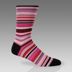 PAUL SMITH Black with Signature Colour Dashes Socks BNWT