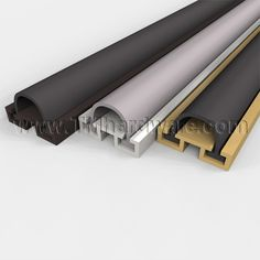Door Sweep Mortised Aluminum Track with EPDM Bulb Seal & Door Sweep Mortised Aluminum Track with .25