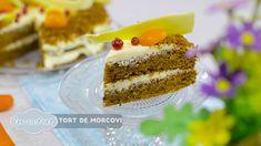 Reteta - Tort de morcovi | Bucataras TV - YouTube No Cook Desserts, Vanilla Cake, Cheesecake, Deserts, Sweets, Make It Yourself, Cooking, Food, Youtube