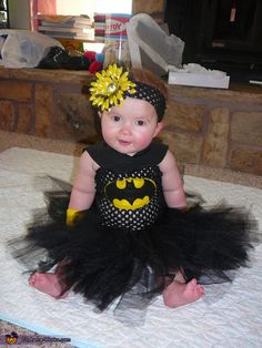 Homemade Bat-Girl Baby Costume - Photo 3/3