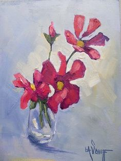 """Daily Paintworks - """"Daily Painting, Floral Painting, Small Oil Painting, pink flower art"""" - Original Fine Art for Sale - © Carol Schiff Flower Of Life, Flower Art, Fine Art Auctions, Retro Wallpaper, Traditional Paintings, Selling Art, Fine Art Gallery, Dog Art, Beautiful Paintings"""