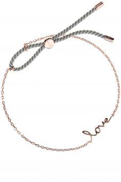 love armband rose vergoldet ziehverschluss hellgrau