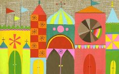 Very Mary Blair inspired art by Lisa Congdon. Love it! So cheerful.
