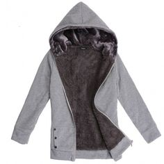 New Fashion Casual Women's Thicken Hoodie Coat Outerwear Jacket