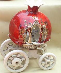 Pomegranate Art, Turkish Art, Modern Ceramics, Paper Art, Diy And Crafts, Sculptures, Creative, Handmade, Pomegranates