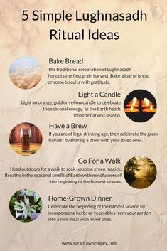 5 Simple Lughnasadh Ritual Ideas For Lammas in a fun Infographic :) Many Lughnasadh Blessings! Wiccan Sabbats, Wicca Witchcraft, Pagan Witch, Magick Book, Witch Spell, Wicca Holidays, Eclectic Witch, Modern Witch, Beltane