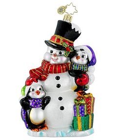 Christopher Radko Christmas Ornament, Quite a Trio - Holiday Lane - Macy's
