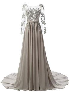 Sexy Prom Dress, Long Sleeve Appliques Prom Dress