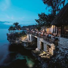 The Rockhouse, Negril, Jamaica.who doesn't love jamaica? Dream Vacations, Vacation Spots, Beach Vacations, Vacation Ideas, Ocean View Restaurant, Terrace Restaurant, The Places Youll Go, Places To Go, Jamaica Hotels