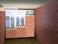 This set contains three simple block walltables with different heights matching to my casement windows.  Found in TSR Category 'Misc Sims 3 Sets'
